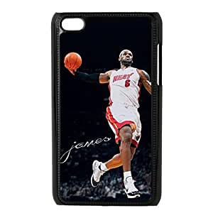 NBA Miami Heat Super Star Lebron James for IPod Touch 4th Durable Plastic Case-Creative New Life