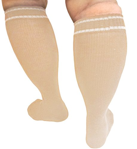 f6566d8d83 MICODEMA Compression Socks Extra Wide Calf - Arch and Ankle Support Band |  Gradient Pressure 20 mmHg, Knee High Queen Plus Size Premium Hosiery |  Medical ...