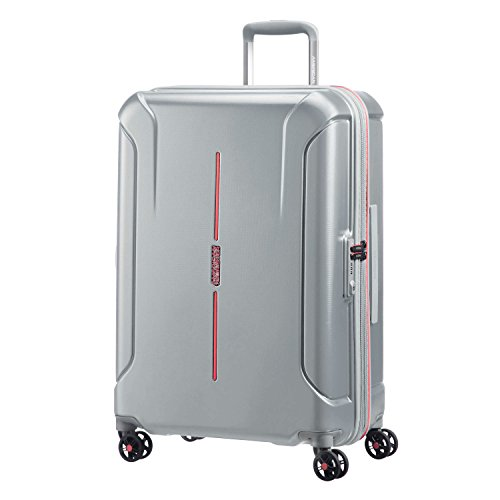 American Tourister Technum Spinner Hardside 24, Grey/Red