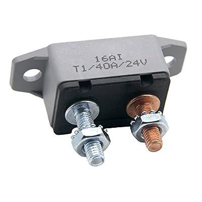 ZOOKOTO 12V 30A40A50A Auto Circuit Breaker Automatic Reset Fuse Stud Bolt 40 Amp
