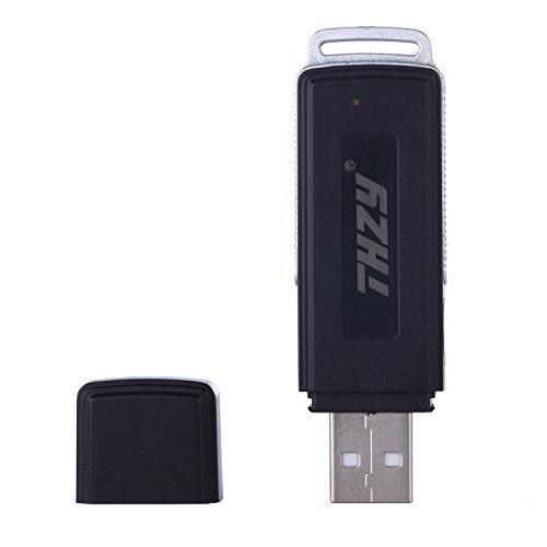 Rekorder, THZY 8GB Digital wiederaufladbare USB Audio Rekorder-Stick Mini versteckte Feder-Antriebs-Scheibe (150 Stunden)