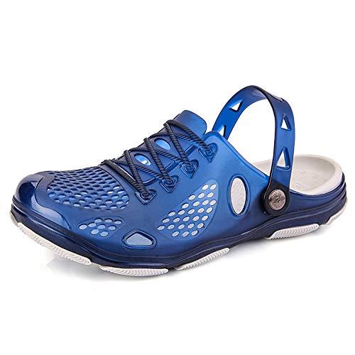 Aqua Slippers 45 3 Pantoletten 40 Clogs Strand Sommer Schwarz Hausschuhe Gelb Herren Blau Rutschfest Gartenschuhe Badeschuhe RZ8qB