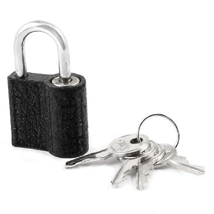 1.1 Caja de joyería Ancho Candado Maleta Gabinete Negro Metálico - - Amazon.com