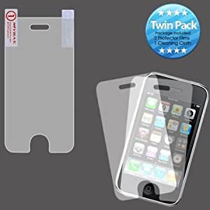 Bloutina MYBAT IPHONE3GLCDSCPRTW LCD Screen Protector for Apple iPhone 3G/3GS - Retail Packaging - Twin Pack
