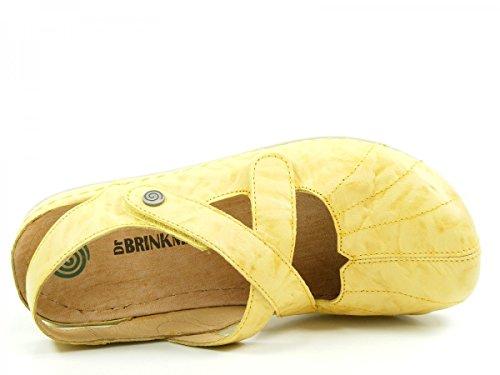 710736 Ballet Womens Brinkmann Dr Flats Yellow HwazWBq5
