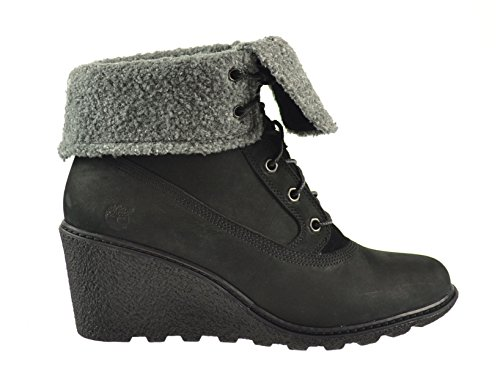 Timberland Womens Roll Top (Timberland Earthkeepers Amston Roll Top Women's Boots Black 8258a (8 B(M) US))