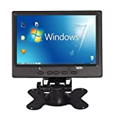 INFORMIC 7 inch TFT LCD HDMI VGA AV Monitor HD Car Display 1024600 for Raspberry Pi 3/2/B+/A+ with Power Adapter