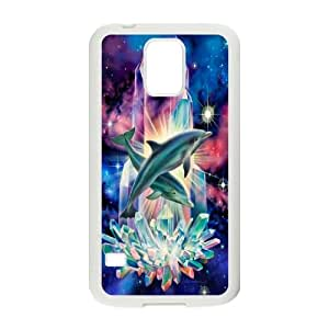 Hjqi - DIY Dolphins Plastic Case, Dolphins Unique Hard Case for SamSung Galaxy S5 I9600