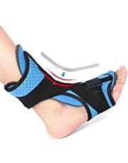 DOACT Plantar Fasciitis Support Brace with Arch Support, Drop Foot Orthotic Brace for Night and Day Pain Relief from Plantar Fasciitis Heel Spurs Achilles Tendinitis Flat Arch