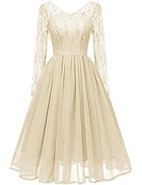 Lace Evening Party Ball Prom Wedding Long Dress Women Deep V-Neck
