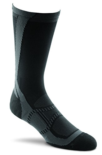 Fox River Mills Nylon Gloves - FoxRiver Peak Series Velox LX Crew Cut Running Socks, Medium, Black