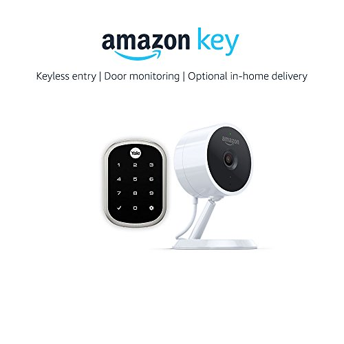 Yale Assure YRD256 Lock SL Key Free Touchscreen Deadbolt in Satin Nickel + Amazon Cloud Cam, works with Amazon Key