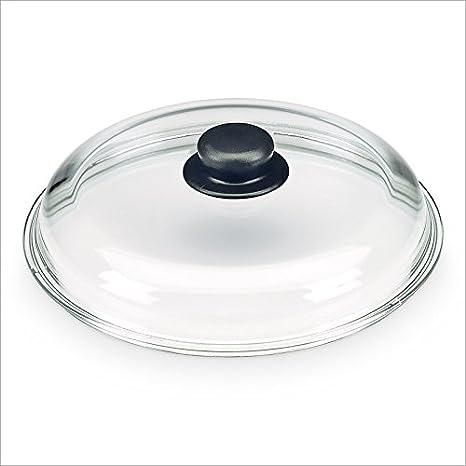 Relaxdays Tapa de cristal Tapa de repuesto para ollas y ...