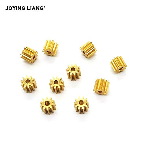 New 0132 PP10Z Brass 10z Tooth Pinion x 2