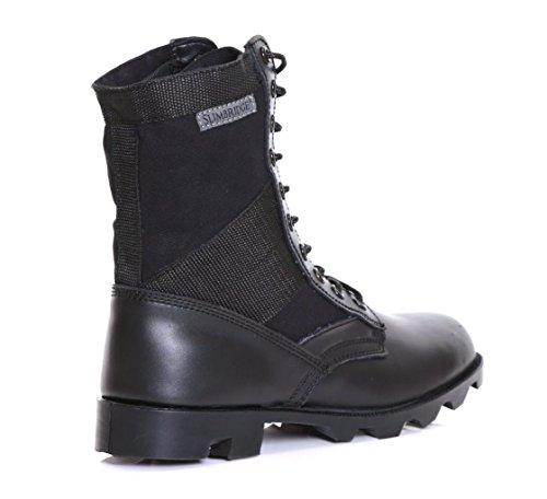 Slimbridge Force botas militares para hombre, Negro 43