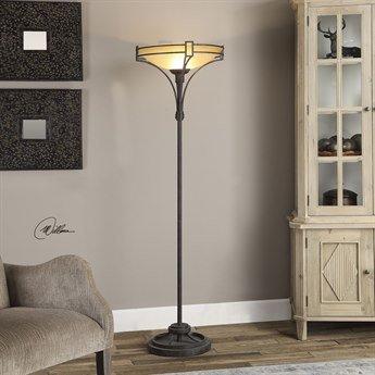 Uttermost Verduno Rust Black Floor Lamp