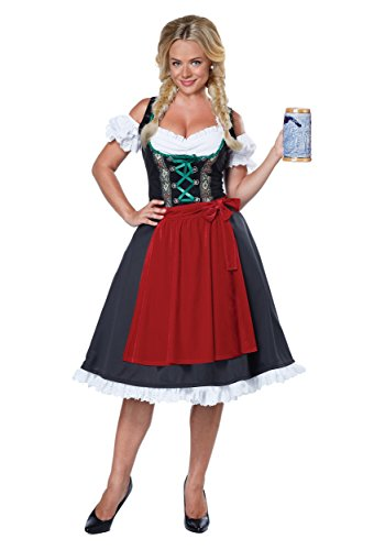 California Costumes Women's Oktoberfest Fraulein Costume, Black/Red, (German Beer Lady Costume)