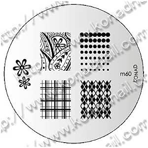 Placa de Diseños Konad Original. m60, Plantilla para uñas Konad España.: Amazon.es: Belleza