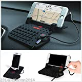 FidgetGear Autos Dashboard USB Mount Charger Stand Holder Non-Slip Pad for GPS Cell Phones