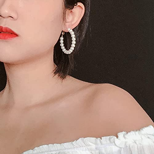 CHANBO 6 Pairs Fashion Earrings Set for Women Girls Hoop Stud Drop Dangle Earrings Leather Leaf Earrings for Birthday/Party/Christmas/Friendship Gifts