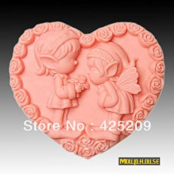 Pinkie – Supernova Venta Boy & Girl Forma de Corazón Ángel molde jabón, vela moldes