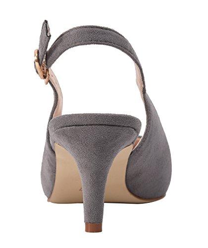 Hb1674 Femme Escarpins Pour Camssoo Velveteen 1uk Grey UIqRdwFPx