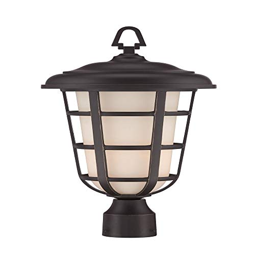 White Finish Opal (Designers Fountain 33246-ABP Triton - One Light Outdoor Post Lantern, Aged Bronze Patina Finish with White Opal Glass)