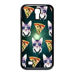 RebeccaMEI Hipster Cat Galaxy Pizza Samsung Galaxy S4 I9500 Protective Polymer Case Cover Custom Personalized Fashion Cute Case at Goodcase