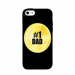 #1 Dad issues Gold Token TPU RUBBER SILICONE urged Phone Case Back got Cover iPhone 6 4.7 orange