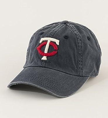American Needle MLB Minnesota Twins Team New Raglin Under Visor Adjustable Cap