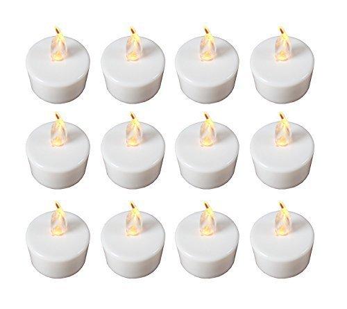 LED Teelichter in 24er Box flacker Teelicht batteriebetrieb Kerze inkl Batterien