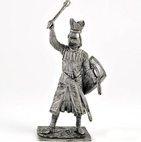 Toy soldier Walter von Geroldsek, bishop of Strasbourg, 1262 year metal sculpture. Collection 54mm (scale 1/32) figurine. Tin toy soldiers