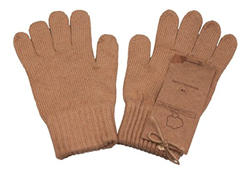 Body4Real Pure Certified Organic Cotton Unisex Gloves Brown Small