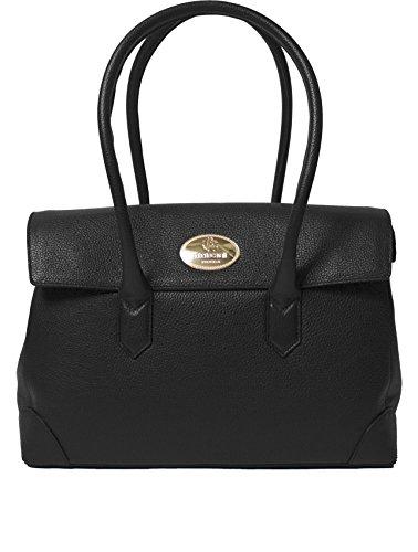 Roberto Cavalli Women's Leather Shoulder Bag Handbag Black