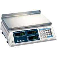 CAS S-2000 60lb Low Profile Price Computing Scale, 60lb Capacity, 0.02lb Readability, NTEP Legal for Trade