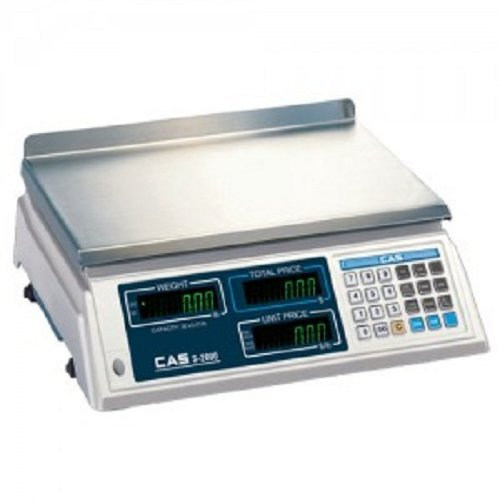 CAS S-2000 60lb Low Profile Price Computing Scale, 60lb Capacity, 0.02lb Readability, NTEP Legal for Trade by CAS