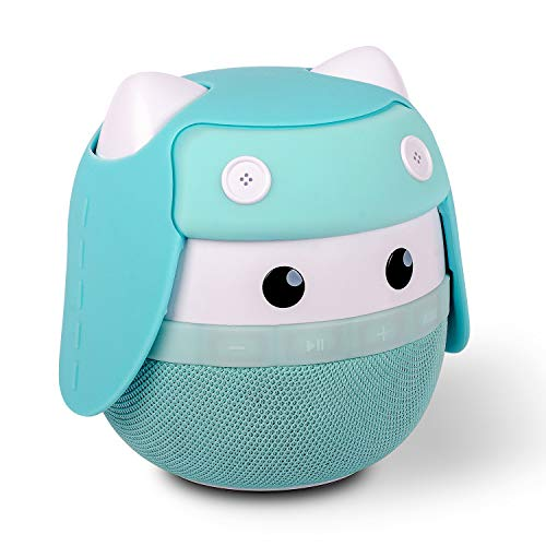 Portable Bluetooth Speaker ASIMOM Rhyme, Stereo Pairing Speaker, 15H Playing, High Definition Sound, Cute Wireless Speaker, Ideal Gift for Girls and Kids (Aqua Blue)
