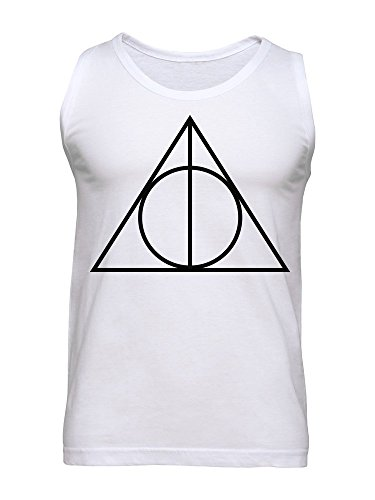 Triangle With Circle Inside Lightning Bolt Boy Minimalistic Men's Tank Top