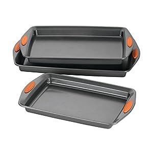 Rachael Ray Cookie Pan Steel Baking Sheet Set