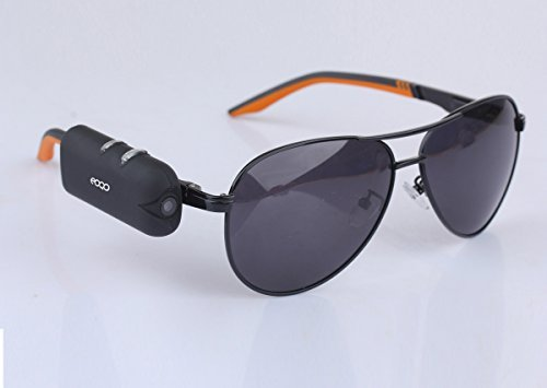 Eoqo Micro 1080P HD sunglasses action camera - Can be mounted on your own sunglasses with two simple step