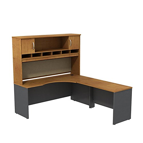 (Series C 72W Right Hand Corner L Desk with 72W 2-Door Hutch)