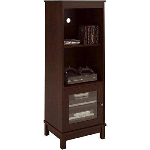 Media Storage Bookcase Tower Multimedia Organizer Shelf