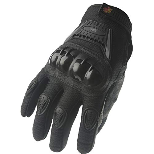- Street Bike Full Finger Motorcycle Gloves 09 (Large, black)