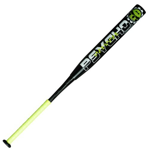 Miken Jeremy Isenhower & Kyle Pearson Dual Signature Psycho Slowpitch Softball Bat, Black, 28 oz