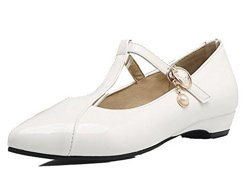 Ballet VogueZone009 Puro Trafilatura Fibbia Bianco Donna Flats q6A6awI