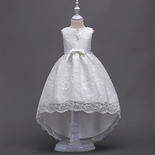Vtements Wedding bb Lace Pageant 9Ans Tutu Princess Robemon Zip Bowknot Dress3 Blanc dqBCdwY