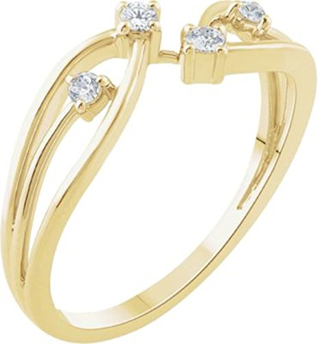 14K Yellow 1/8 CTW Diamond Freeform Ring in 14k Yellow Gold - Size 7