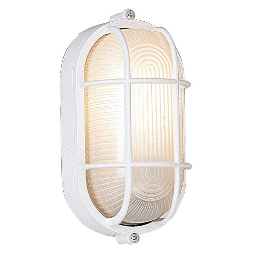 Designers Fountain Outdoor 2071-WH Oval Bulkhead with - Fixtures Bulkhead Nautical Oval Light