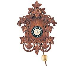 Miniature Quartz Pendulum Hand Carved Cuckoo Clock, 8 Inch