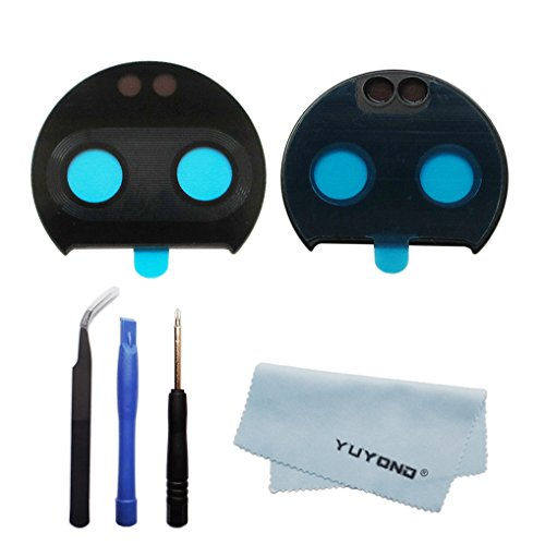 YUYOND Replacement Part for Motorola Moto Z2 Force Camera Glass Lens (Glass Only) with Adhesive Pre-Installed + Tools Kits + Clean Cloth
